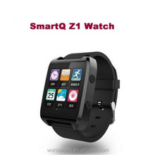 bluetooth fashion watch mobile 100% Original SmartQ Z1 Smart Watch For Iphone / Samsung Galaxy Note3 WIFI Bluetooth Android 4.3