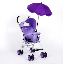 UV protection baby stroller clamp umbrella with holder