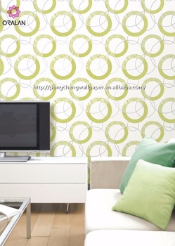 Modern Style and new design PVC coted wallpaper is in good price