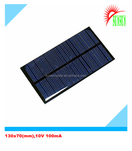 PET laminated/Epoxy resin 1W solar panel 10V
