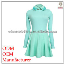 high qualtiy funky knit top long sleeve clothes for women