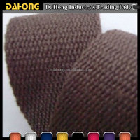 wholesale multicolored stone washed woven cotton plain webbing