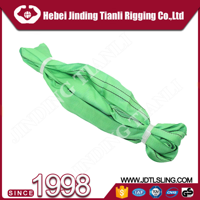 Wholesale product 2 ton round lifing sling with safety factor 6 times