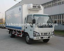 4-5tons dongfeng/foton refrigerated truck for fresh meat fish /cooling van truck