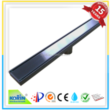 long stainless steel floor drain shower drain or shower channel with strainer