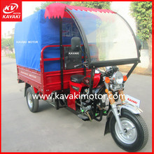 Alibaba supplier closed body canopy passengers zongshen gasoline motor mobile trike bajaj