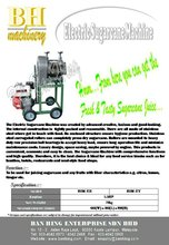 Electric sugarcane machine