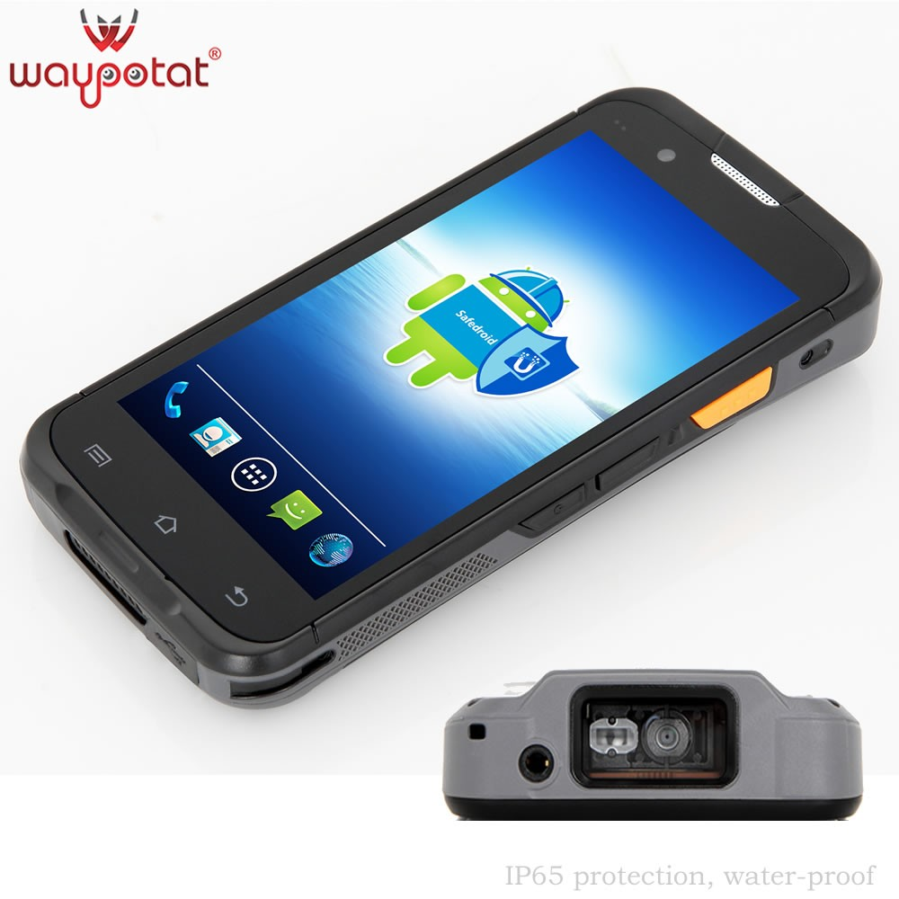 Waypotat 2016 latest military grade rugged smartphone with barcode scanner i6300