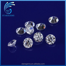 Good quality round synthetic stones clear white cubic zirconia price