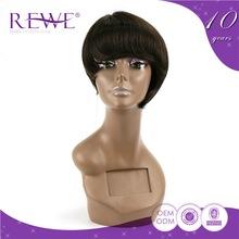 Export Quality Oem Production Guarantee 2 Years Multicolor Ombre Short Wigs Undetectable Hair For Women