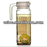 Glass water jug for drinks milk