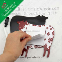 cow shape design oem factory price refrigerator magnet memo board
