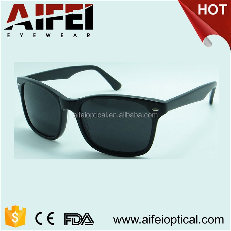 Hot sale and classic acetate sunglasses with metal hinge