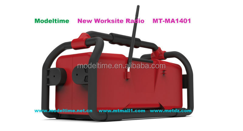 Rechargeable battery worksite radio FM/USB/SD bluetooth