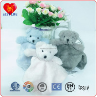 Hot selling funny animal head baby blanket with plush children blanket toy (PTAL1608044)
