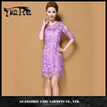 summer new design women short casual lace dress from guangzhou manufacturer