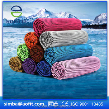 Cooling Towel for Sports, Workout, Fitness, Gym, Yoga, Pilates, Travel, Camping & More
