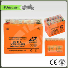 YTX12-BS Deep cycle gel motorcycle battery 12V12AH