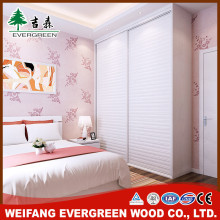 Hottest wood wardrobe with louvered doors