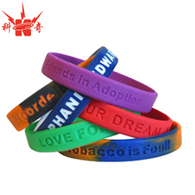 High quality manufactory rubber friendship bracelets for sport passion