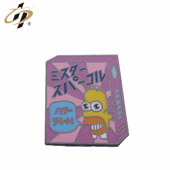 Custom enamel logo Japanese cartoon hard enamel lapel pin