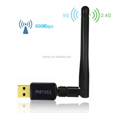 High Quality Cheap 802.11n 600Mbps Wifi Dongle Wireless USB Dual Band RJ45 Wifi Adapter for Laptop Android