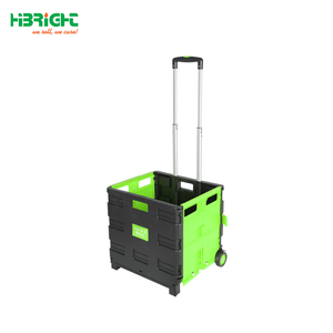 Plastic foldable shopping cart, foldable luggage cart, plastic foldable cart