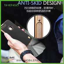 Shengo Fashion New Design Magnet Soft TPU Mobile Phone Case Leather Back Cover for iPhone 5/5s