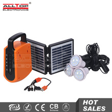 12v Hot selling low profit portable panel home solar led lights kit