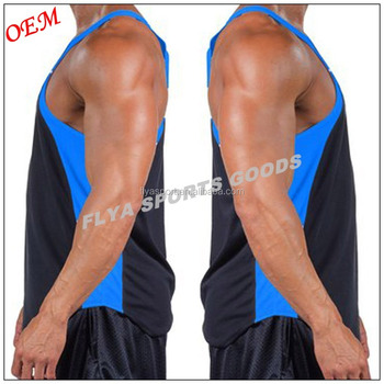 2018 new design fashion gym stringer,hot selling mens gym singlet