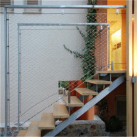 Custom Manufactured Wire Rope Mesh for Stairs Railling Fencing