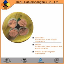 Rubber sheathed flexible multicore high voltage power cable