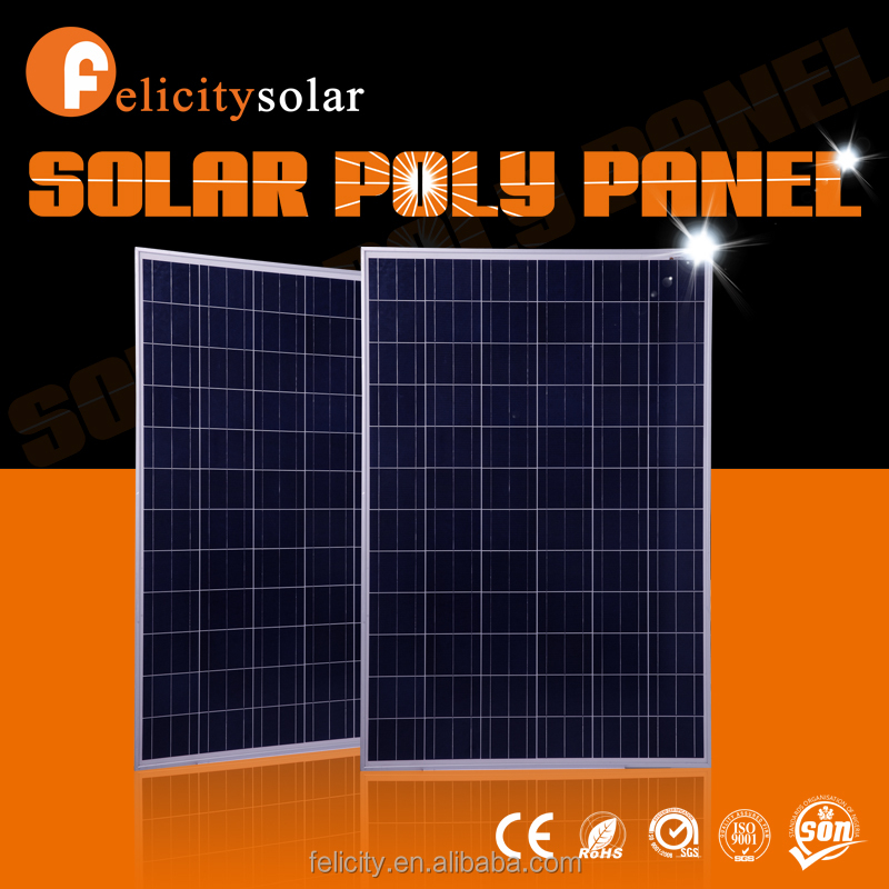 Felicitysolar high quality A grade 200w poly export best price power pv solar panel