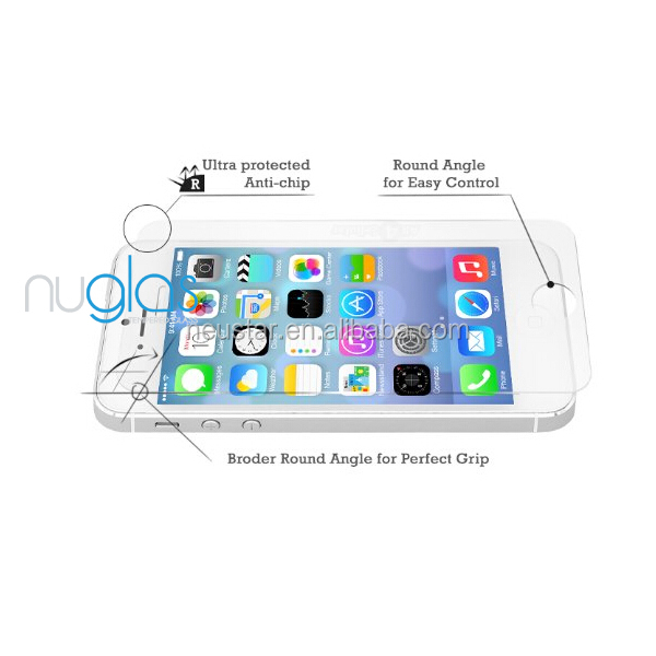 Factory price hot selling scratch proof magnetic screen protector for iPhone 5,Nuglas brand
