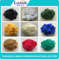 wholesale pet bottles recycle polyester staple fiber price