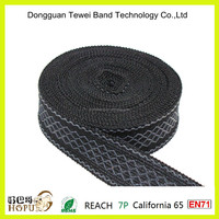 Jacquard elastic waist band,jacquard woven webbing for quinceanera dresses with detachable skirt