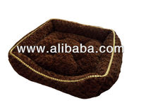 Decorative fur pet bed