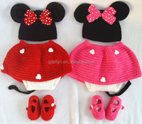 handmade crochet minnie costume baby crochet outfits baby photography props