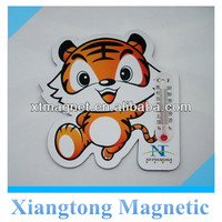 Promotional Cute Tiger with Thermometer Paper Fridge Magnet