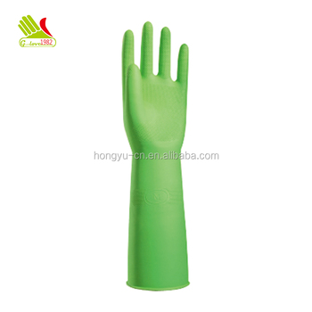 Thickening Long Latex Gloves for Kitchen Cleaning and Laundry