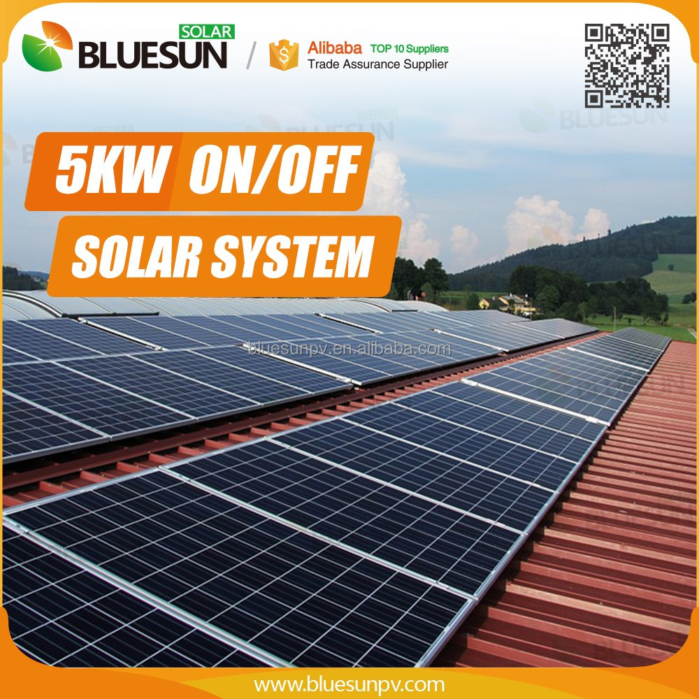 Best price complete solution off grid 5kw solar generator system for home