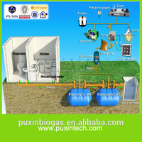 Plastic septic tank for home waste water disposal