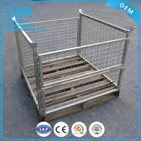 Custom cage pallet sides plastic products storage wire mesh container