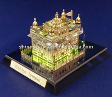 New arrvial lifelike crystal India golden temple