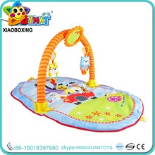 High quality waterproof baby play mat with animal baby musical hanging toys