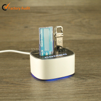 Cute cut wireless 3 port USB 2.0 hub TF/SD/MS/M2 card reader male to female USB hub
