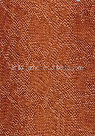 embossed imtation lizard skin pvc faux leather for making lady bags and shoes materials