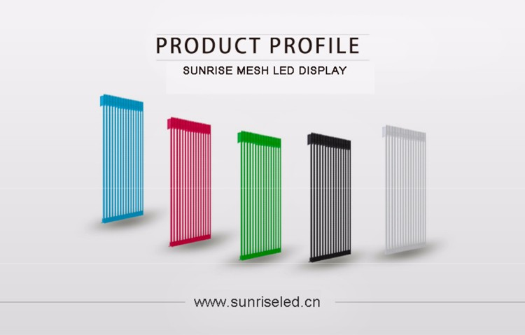 Sunrise Transparent Media Facade Display For Building Decoration