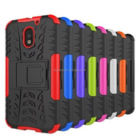 heavy duty shockproof hybrid hard case for Moto E 2016