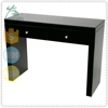 Black Mirrored Console Table 2 Drawer